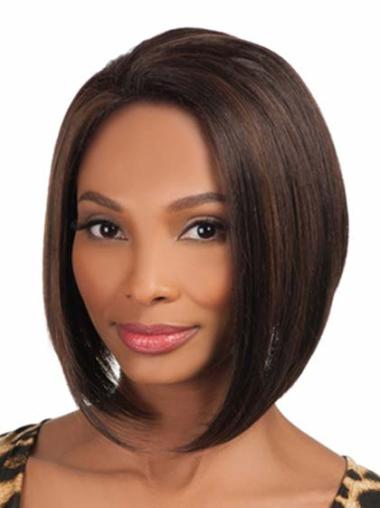 Online Brown Straight Chin Length African American Wigs
