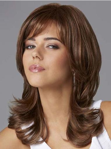 Lace Front Radiant Wavy Synthetic Medium Wigs
