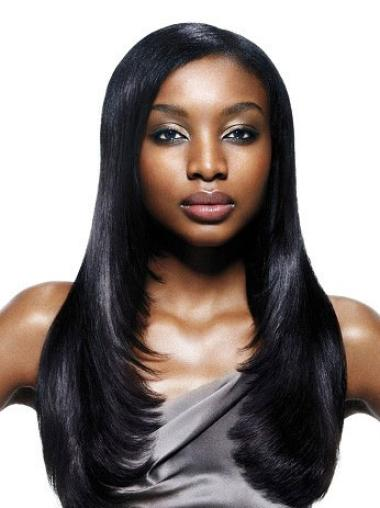 Hairstyles Black Straight Long African American Wigs