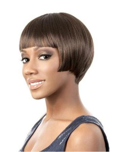 Lace Front Straight Indian Remy Hair Short Wigs