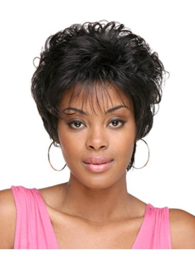 Glamorous Black Curly Short African American Wigs