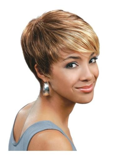Perfect Blonde Straight Cropped African American Wigs
