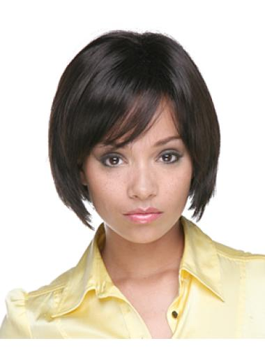 Easeful Black Straight Chin Length African American Wigs