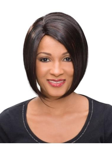Shining Auburn Straight Chin Length African American Wigs