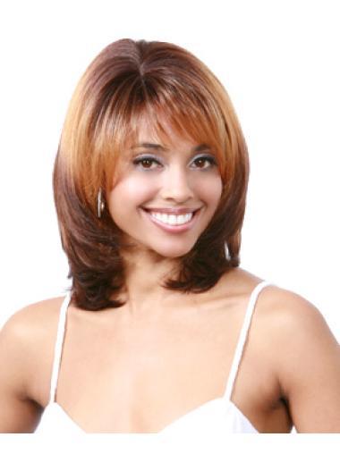 Auburn Exquisite Wavy Synthetic Medium Wigs