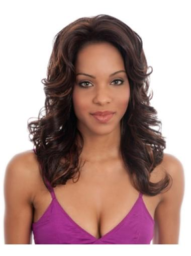 Soft Auburn Curly Long Glueless Lace Front Wigs
