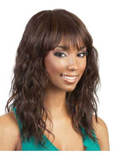 Incredible Auburn Wavy Shoulder Length African American Wigs