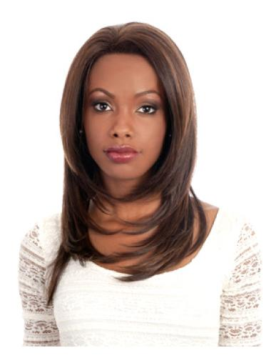 Style Auburn Straight Long Glueless Lace Front Wigs