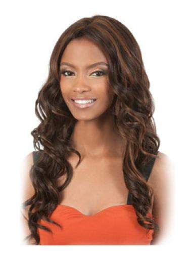 Ideal Brown Curly Long African American Wigs