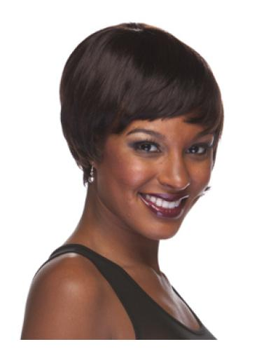 Brown Easy Boycuts Straight Short Wigs