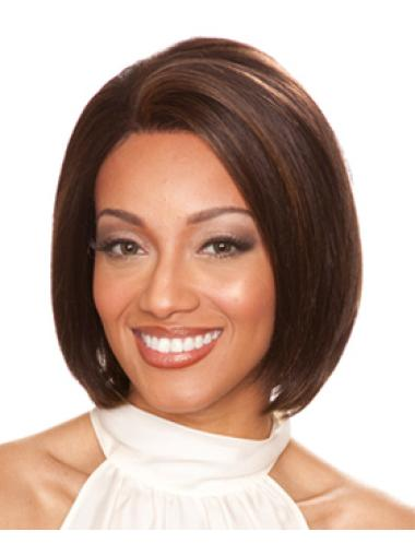 Auburn Exquisite Lace Front Indian Remy Hair Medium Wigs
