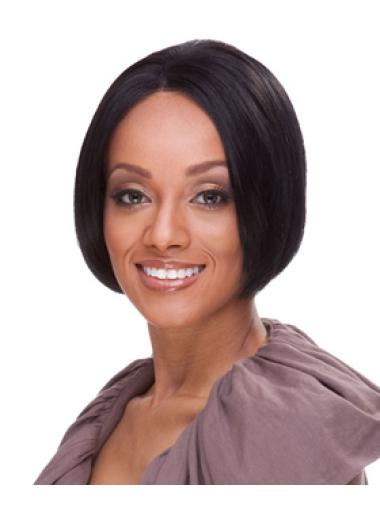 Black Lace Front Indian Remy Hair Cosy Short Wigs