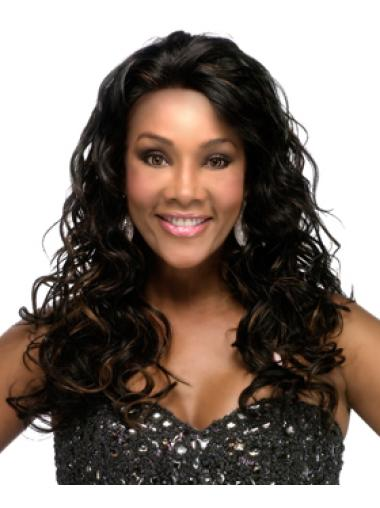 Cosy Black Curly Long Human Hair Lace Front Wigs