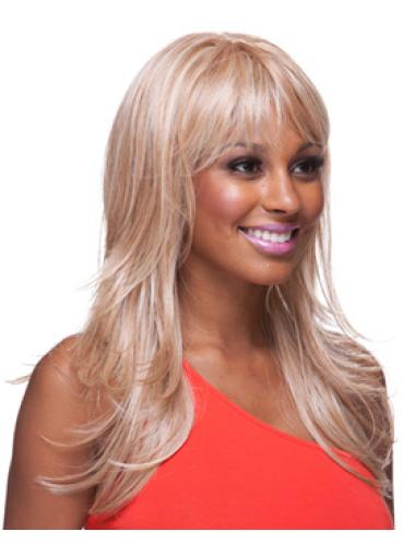 Style Blonde Wavy Long African American Wigs