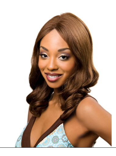 Braw Auburn Curly Shoulder Length Lace Wigs