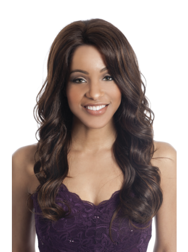 Traditiona Brown Curly Long Human Hair Lace Front Wigs