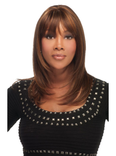 Great Auburn Straight Shoulder Length African American Wigs