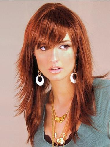 Auburn Layered Straight Braw Long Wigs