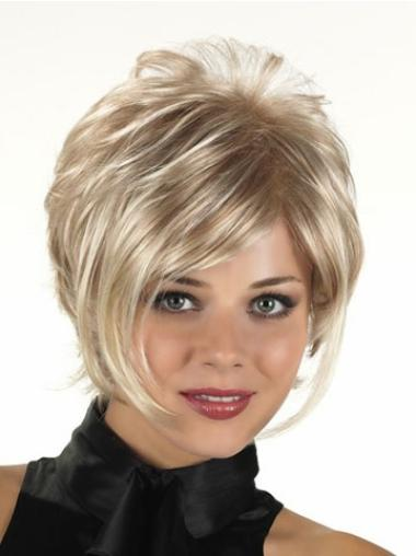 Easy Blonde Curly Short Synthetic Wigs