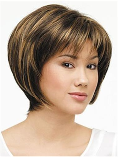 Lace Front Straight Synthetic Durable Medium Wigs
