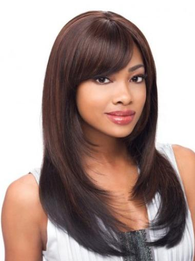 Comfortable Synthetic Auburn Lace Front Long Wigs