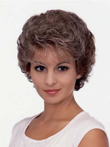 Sleek Brown Curly Short Classic Wigs