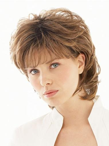 Beautiful Brown Wavy Short Classic Wigs
