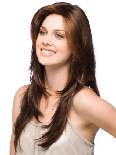 Brown Straight Synthetic Glamorous Long Wigs