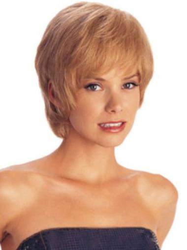 Glamorous Auburn Straight Short Synthetic Wigs