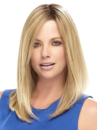 Fabulous Blonde Lace Front Shoulder Length Celebrity Wigs