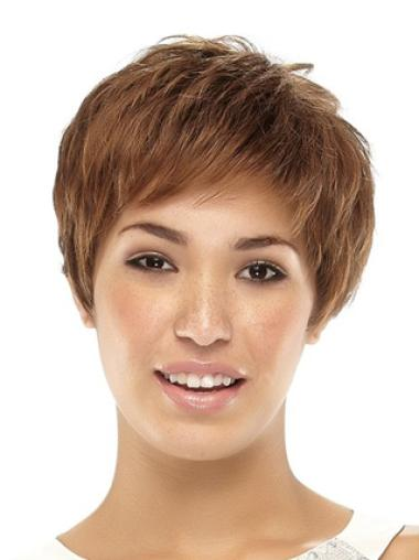 Best Brown Straight Cropped Synthetic Wigs