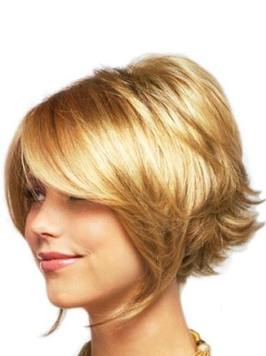 Best Blonde Wavy Chin Length Lace Front Wigs