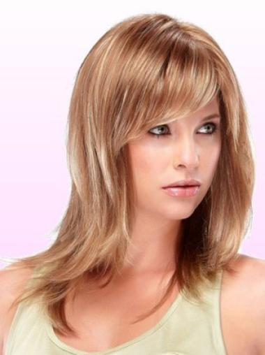 Soft Auburn Straight Shoulder Length Wigs