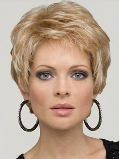 Boycuts Wavy Synthetic Designed Short Wigs