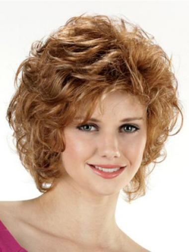 Pleasing Lace Front Curly Chin Length Classic Wigs