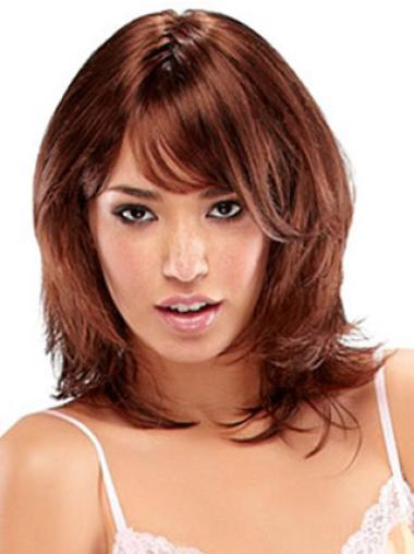 Stylish Auburn Straight Shoulder Length Synthetic Wigs
