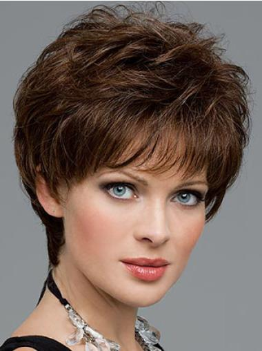 Lace Front Fabulous Boycuts Wavy Wigs For Cancer