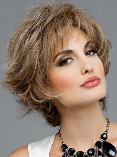 Online Brown Wavy Short Synthetic Wigs