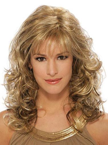 Modern Blonde Wavy Long Classic Wigs Real Hair Wigs