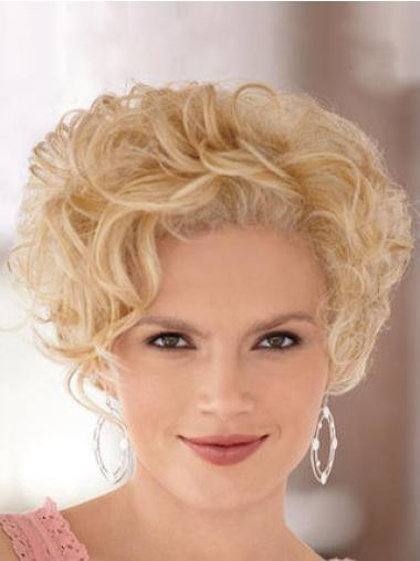Blonde Curly Synthetic Online Short Wigs