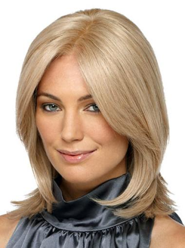 Braw Blonde Straight Shoulder Length Synthetic Wigs
