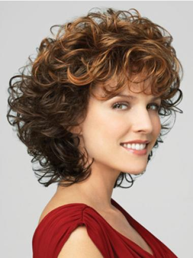 Cheap Lace Front Curly Chin Length Classic Wigs