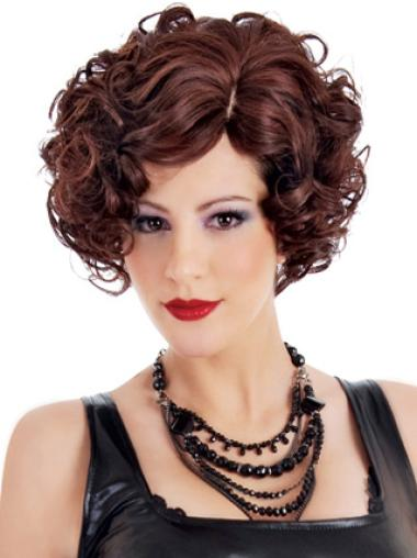 Designed Auburn Curly Short Classic Wigs