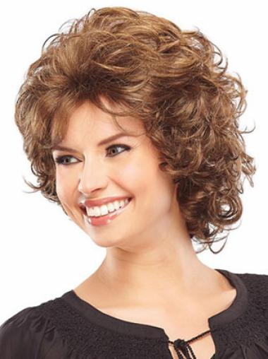 Durable Auburn Curly Chin Length Classic Wigs