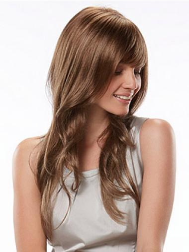 Discount Auburn Wavy Long Synthetic Wigs