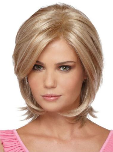 Incredible Blonde Straight Chin Length Synthetic Wigs