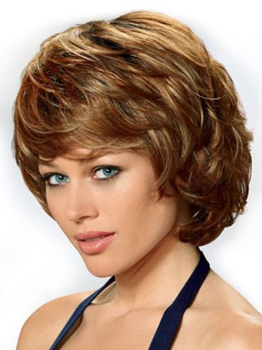 Great Auburn Wavy Chin Length Classic Wigs
