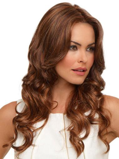 Radiant Auburn Wavy Synthetic Wigs For Cancer