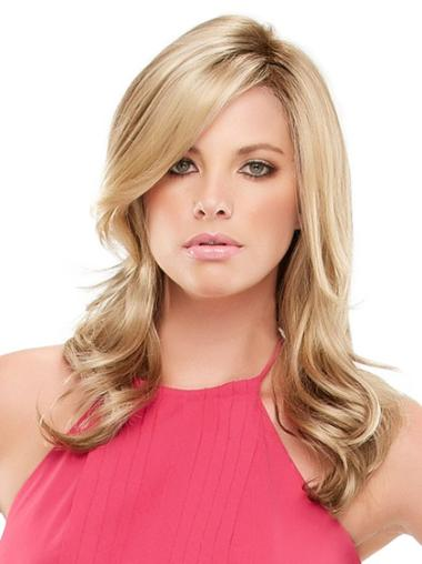 Refined Synthetic Blonde Wavy Wigs For Cancer