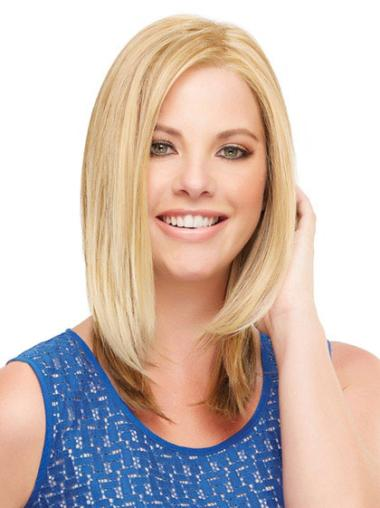 Preferential Blonde Lace Front Shoulder Length Lace Wigs